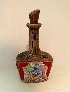 Vintage San Marino Pottery Bottle