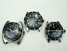 Lot of 3 Vintage Swiss DIVERS WATCHES @ 1950's-60's for Repair/Projects or parts