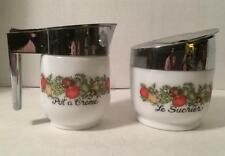 Vintage SPICE OF LIFE Sugar & Creamer Set by Gemco, Le Sucrier Pot a Creme