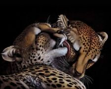 Living Room Art Wall Decor two Cheetah Oil Painting Picture Printed on Canvas