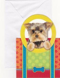 Yorkshire Terrier Dog Blank Inside Greeting Card