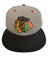 New Era 59fifty Chicago Blackhawks Fitted Hat Size 7 See Pic EUC NHL Hockey