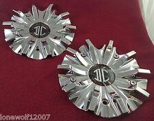 2 Crave Wheels Chrome Custom Wheel Center Caps Set of 2 # H3-2410 / S1109-03