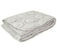 Lightweight Bed Quilt, Gray Comforter Bedspread Coverlet Blanket NATURAL LINEN