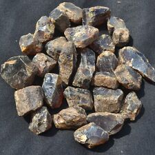 1000 Carat Lots Natural Sumatra Amber Rough Black Brown Cognac Bluish Colors