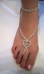 ALL Rhinestone Slave Anklet Bracelet...Beauitful!