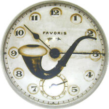 Crystal Dome Button Steampunk Clock Face & Tobaco Pipe SP 34 FREE US SHIPPING