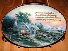 Thomas Kinkade's Guiding Lights Cottage My The Sea Bradford Exchange Plate