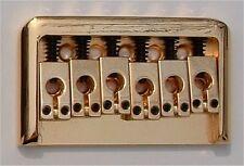Guitar Hardware - 6 Saddle FIXED HARDTAIL BRIDGE - GOLD
