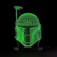 Boba Fett Star Wars 3D Illusion Led Night Light Table Lamp Kids Room Jango Fett