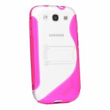 S-LINE CLEAR PLASTIC & TPU GEL STAND CASE COVER FOR SAMSUNG GALAXY S3 I9300 LTE
