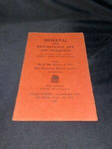 Medieval & Renaissance Art, Antiquities 1951 Parke-Bernet Auction Catalog