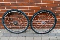 MTB bike wheels 26'' Araya Super Hard RM-20 Shimano STX RC HB-MC33 Ritchey 8 sp