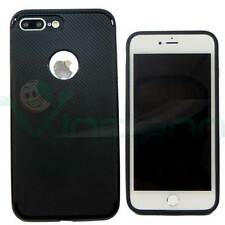 """Pellicola+Custodia cover CARBON FIBER TPU per Apple iPhone 7 PLUS 5.5"""""""