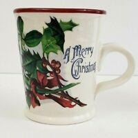 "Williams Sonoma Coffee Cup - Vintage Christmas Postcard - 5"" x 4"" - NWOT"