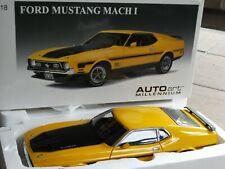 AutoArt Millennium 1971 Ford Mustang Mach 1 Fastback 1:18 Scale Diecast '71 Car