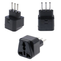 Universal UK/US/EU/AU to italy 3pin travel plug converter plug adapter conveHGfw