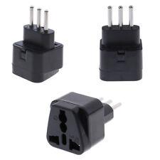 Universal UK/US/EU/AU to italy 3pin travel plug converter plug adapter convert D