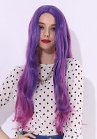 """Long Curly Wave Wig Purple Pink Gradient Colorful Anime Cosplay Curly Wig 28"""""""