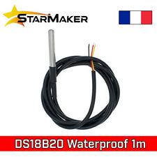 DS18B20 Sonde température Dallas 1m - 1-Wire Thermomètre étanche waterproof