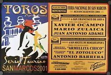 Original 2001 Bullfight poster from San Marcos Fair, Aguascalientes, Mexico