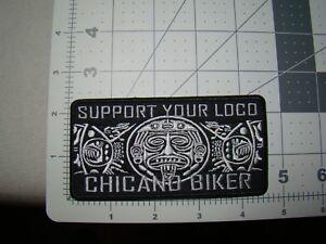 rectangle Aztec design patch Chicano Biker patch jacket hat patch Hispanic patch