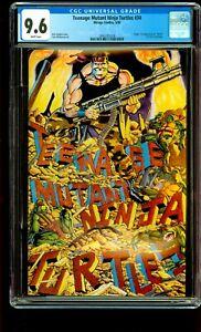 TEENAGE MUTANT NINJA TURTLES #34 CGC 9.6 NM+ 1ST Turtlenator TMNT MIRAGE