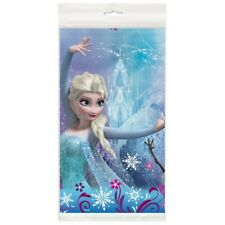 """Disney Frozen Tablecloth 84"""" x 54"""" Plastic Birthday Party Table Cover Tableware"""