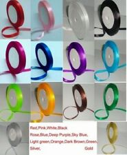 """4 roll 1/4""""25yds Double sided Wedding Party Craft Satin Silk Ribbon 14 Colors"""