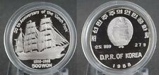 1988 KOREA Large Silver Proof  500 Won- Gorch Fock Sailing Ship