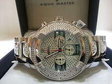 Mens Aqua Master Diamond Watch Silver Color W#96