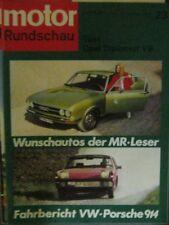* Motor-Rundschau 23 / 1969 - Opel Diplomat V8 - VW Porsche 914 *
