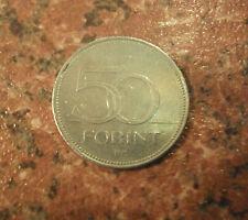 FORINT ungherese 50 MONETA 2001 & 10 FORINT Coin 1995