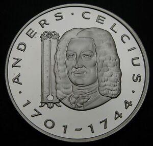 SWEDEN 20 ECU 1997 Proof - Silver - Andres Celcius - 920