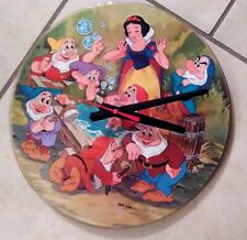 "DISNEY* SNOW WHITE-12"" PICTURE DISC CLOCK--GREAT GIFT!*FREE SHIPPING!!-"