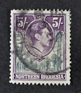 N. RHODESIA, KGVI, 1938, 5s. grey & dull violet value, SG 43, used, Cat £18.