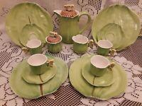 Figural Butterfly Handles15 Pc Tea Set Teapot/Cups Saucers/Plates AMM Tasteseter
