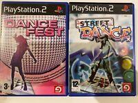 Dance Fest & Street Dance Bundle PS2 Playstation 2 Games Complete with Manuals