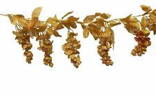 Gold Wisteria Garland Wedding Arch Decor Silk Flowers 50th Anniversary