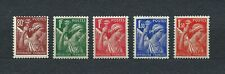 TYPE IRIS - 1939-41 YT 431 à 435 - TIMBRES NEUFS** MNH LUXE