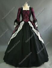 Renaissance Brocade Princess Dress Gown Steampunk Theater Clothing N 164 L