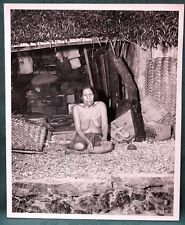 Native Woman Ulithi Atoll Caroline Islands orig 1944 USS Hornet Navy photo