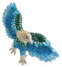 Unique Animal Bird Eagle Brooch Pin Pendant Turquoise Rhinestone Crystal 04717C7