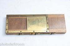 ICA Dresden 45x165m Glass Plate Holder 40x45mm 15x65x193mm Outer Size - USED M99