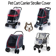 Folding Outdoor Travel Cat Dog Cart Carrier Pet Stroller Rain Cover Waterproof
