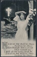 """OFFICIAL TITANIC """"IN MEMORIAM"""" USED POST CARD WITH MINOR FAULT BT626"""