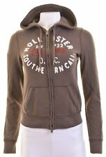 HOLLISTER Womens Hoodie Sweater Size 10 Small Brown Cotton  IK01