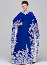 RAMADAN DUBAI MOROCCAN BLUE MODERN ARABIC ISLAMIC WEDDING GOWN TAKSHITA VAR