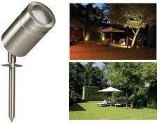 Luxform Garden Lighting Newman 12v Spotlight Spike in Stainless Steel