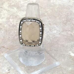 Barse Cognac Quartz Ring-Mixed Metal-6.5-NWT